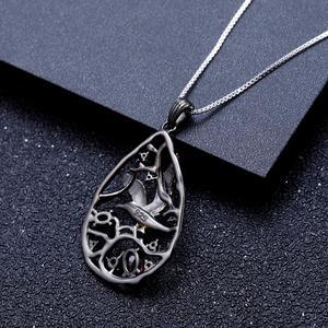 Image 4 - GEMS BALLET, en argent Sterling 925, en Rhodolite naturelle, bijou fin pour femmes, pendentif oiseau sur larbre fait à la main