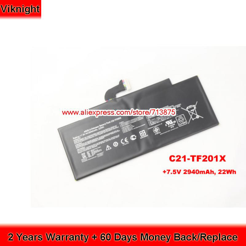 Genuine 7.5V 22Wh C21-TF201X Battery for ASUS TF300T TF201 TF300 TF201-1B002A TF201-1I076A TF201-1B04 TF201-B1-CG 15v 1 2a 18w laptop ac power adapter charger for asus tf101 tf201 tf300 tf300t tf700 tablet wall charger