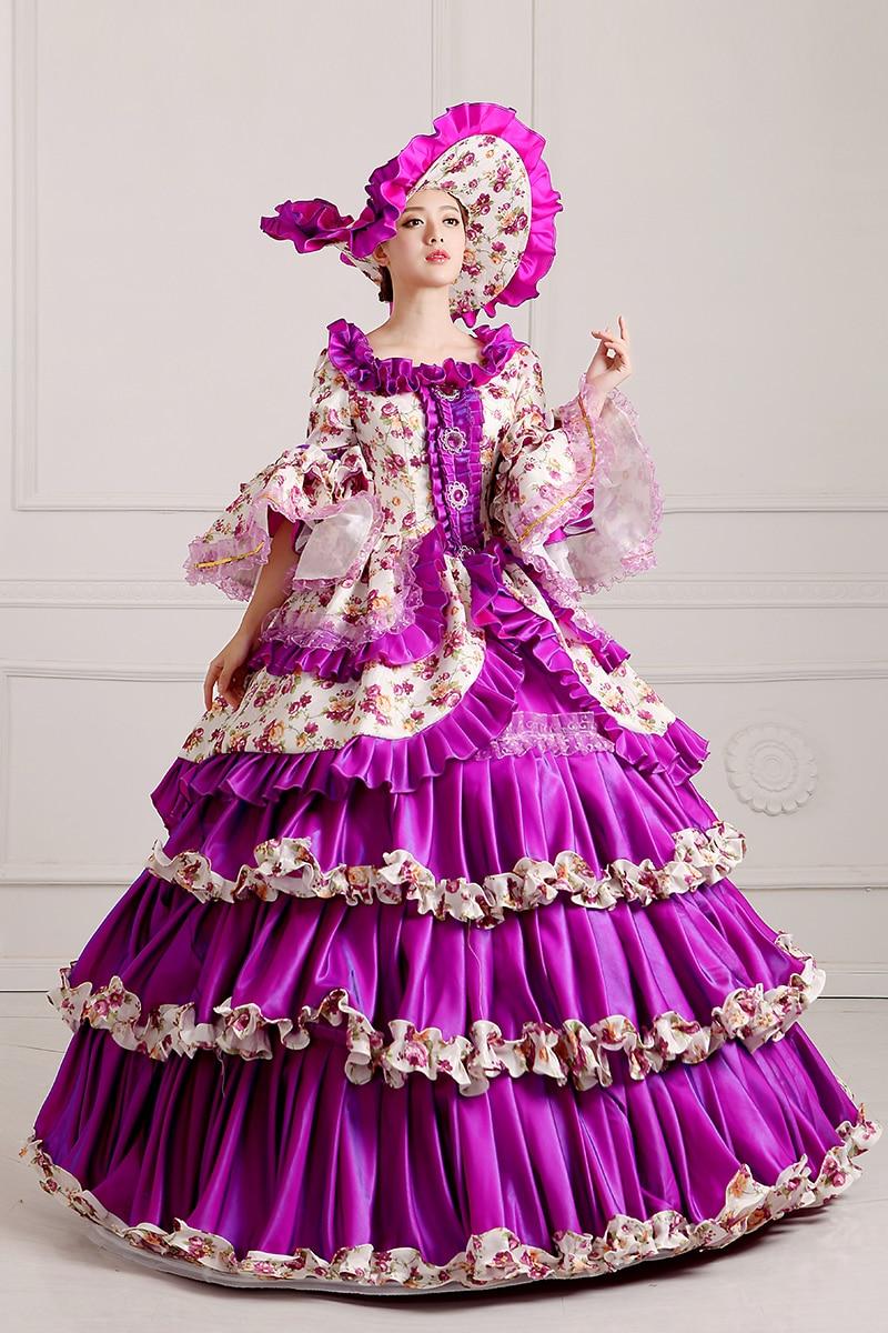 Bonito Vestido De Fiesta Largo De Color Púrpura Ilustración ...