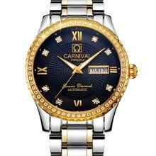 Роскошные Водонепроницаемые часы мужчины Сапфировое стекло Военная серебро нержавеющая сталь Дата Неделя автомат часы