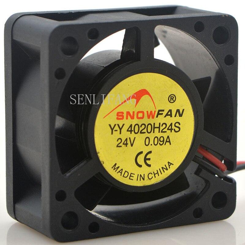 For SNOW FAN Y-Y4020H24S DC 24V 0.09A 40x40x20mm 2-Wire Server Square Fan