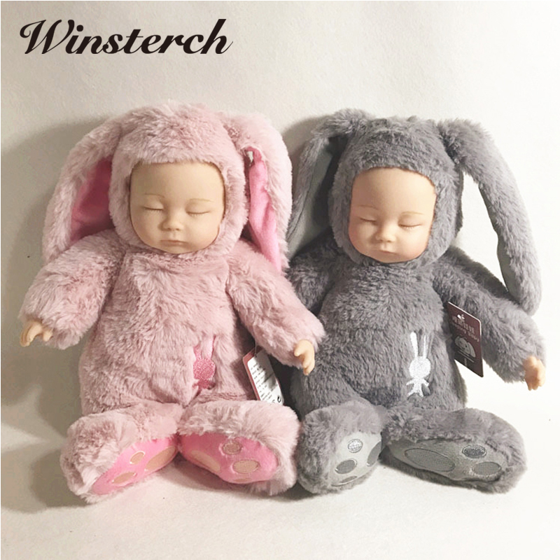 Hot Cute Plush Sleeping Baby Doll Newborn Calm Dolls Soft