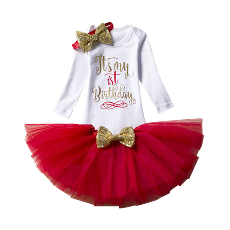b90c61138040 2019 happy birthday gift for baby girl costume fluffy skirt for girls long  sleeve 1st birthday