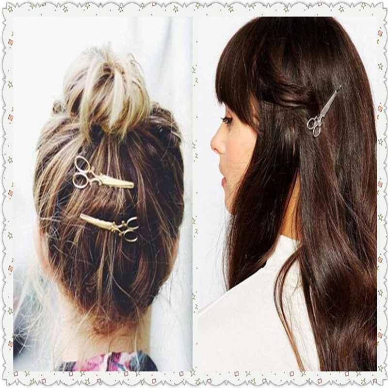 1 шт. заколки для волос Горячая Распродажа женские головные уборы повседневные ножницы узор Новая Мода заколки для волос украшения на голову