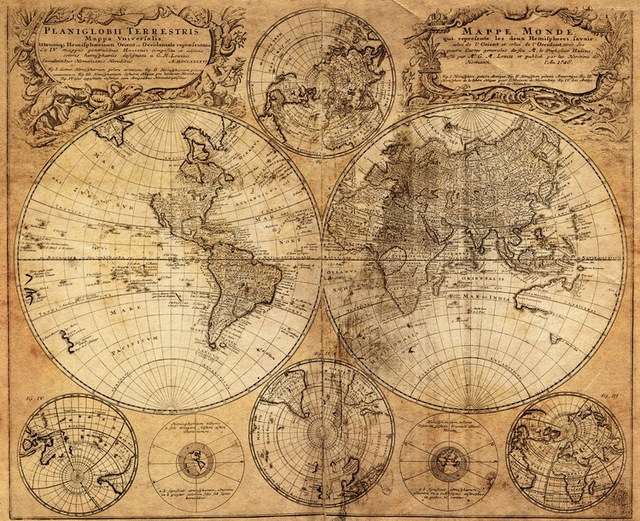 Antique imitated 1746 world map old memory world sailing map antique imitated 1746 world map old memory world sailing map scrolls cotton canvas frameless gumiabroncs Images