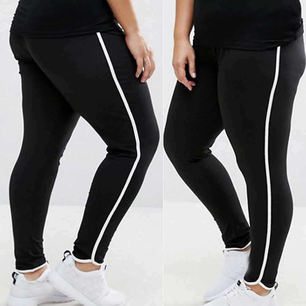 Large size mosaic yoga leggings sweatpants New Women Plus Size Elastic  Leggings Block Mesh Splicing Sport e6a57ad5032f
