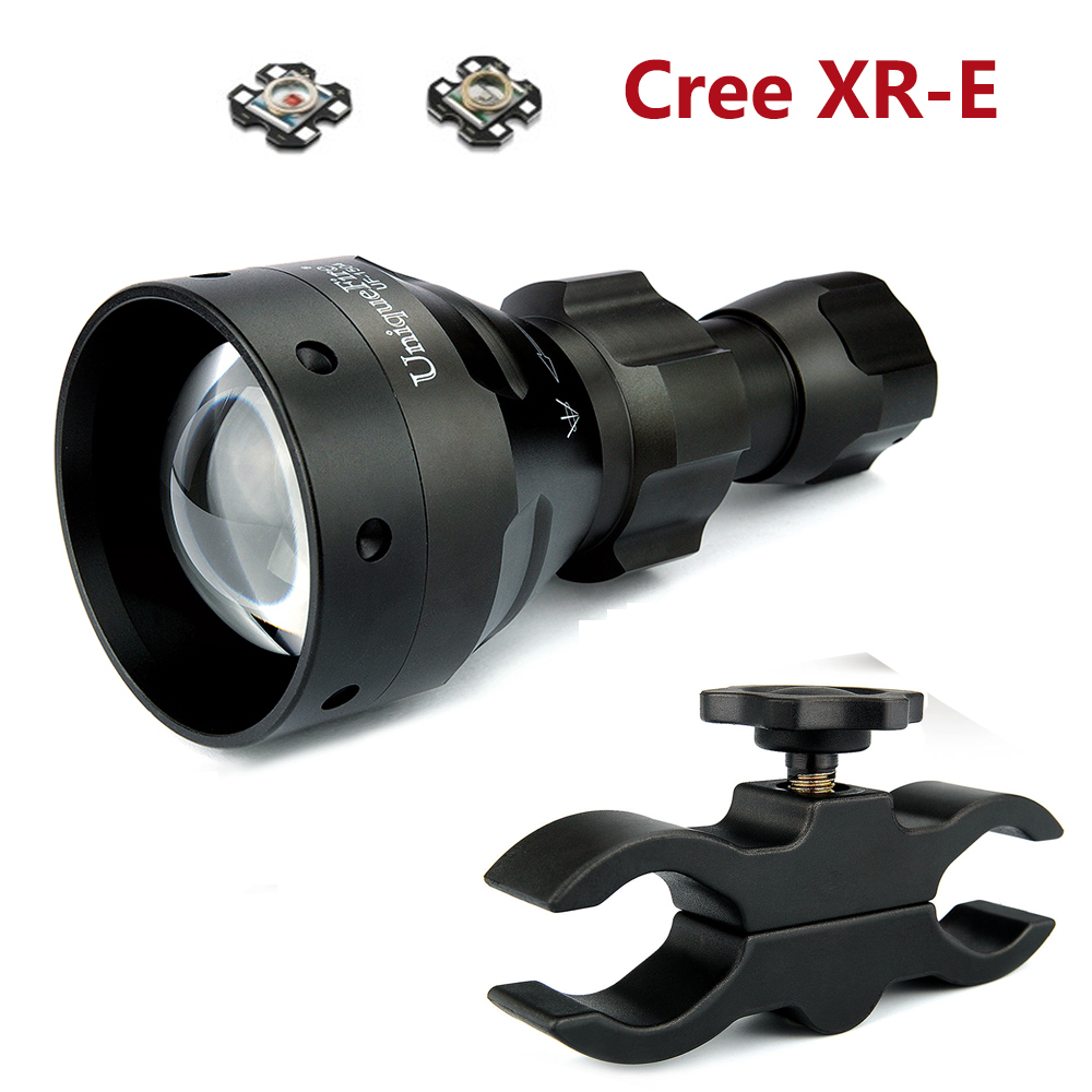 UniqueFire CREE XR-E Led Flashlight UF-1504 T67 3 Modes Tactical Lamp Torch Use Military Hard Oxidation,Lantern+Scope Mount uniquefire t67 powerful flashlight uf 1504 cree xre led 3 modes 300 lumens green red white light waterproof lamp torch charger