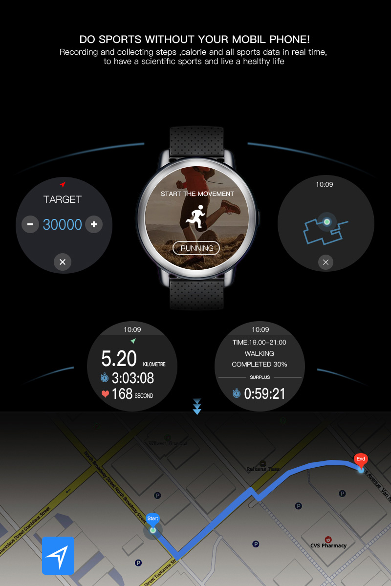 LEMFO LEM8 4G Smart Watch Android 7.1.1 GPS Smartwatch Men 2GB 16GB 580Mah Battery 1.39 Inch AMOLED Screen Sport Watch 12