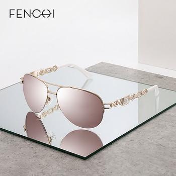 FENCHI sunglasses women uv 400 oculos female glasses sun glasses mirror Pilot Pink feminino zonnebril dames gafas de sol mujer 1