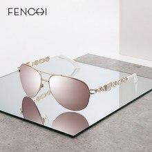 FENCHI 2021 lunettes De soleil femmes UV 400 miroir pilote rose blanc femme soleil gaz nuances Zonnebril Dames Oculos Feminino De Sol
