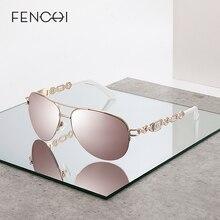 FENCHI güneş gözlüğü kadın UV 400 ayna Pilot pembe beyaz kadın güneş gözlüğü güneş tonları Zonnebril Dames óculos Feminino De Sol