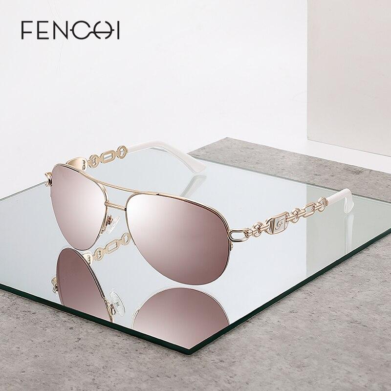 FENCHI sonnenbrille frauen uv 400 oculos weibliche brille sonnenbrille spiegel Pilot Rosa feminino zonnebril dames gafas de sol mujer