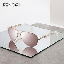 Fenchi óculos de sol mulher uv 400 espelho piloto rosa branco feminino gasses tons zonnebril dames oculos feminino de sol