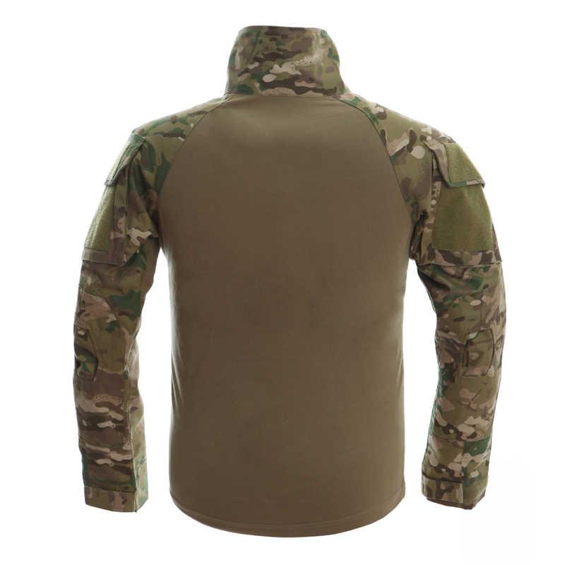MAGCOMSEN Для мужчин лето милитари, камуфляжная футболка военные камуфляж с длинным рукавом футболки Человек Одежда Airsoft Пейнтбол нет колодки