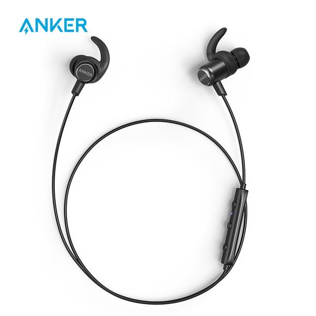 [Upgraded]Anker SoundBuds Slim+ Wireless Earphones Bluetooth 4.1 Lightweight Stereo Earbuds AptX IPX5 Waterproof Sports Headset