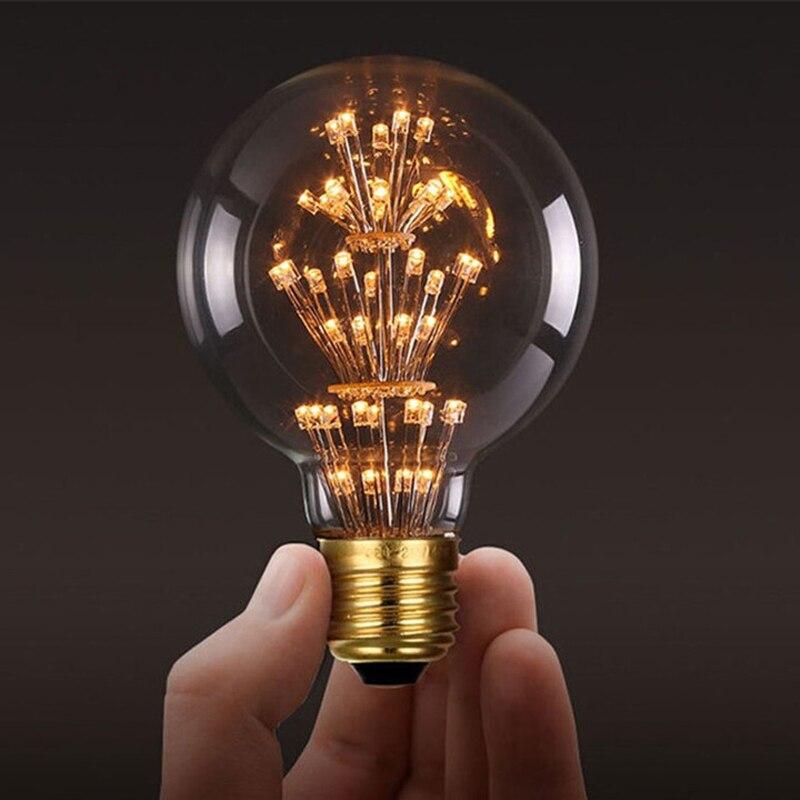 MACLOUVintage Edison Lampadine E27 220V ST64 G80 Albero Di Natale Luce Ad Incandescenza da 40W Filament Retro Edison