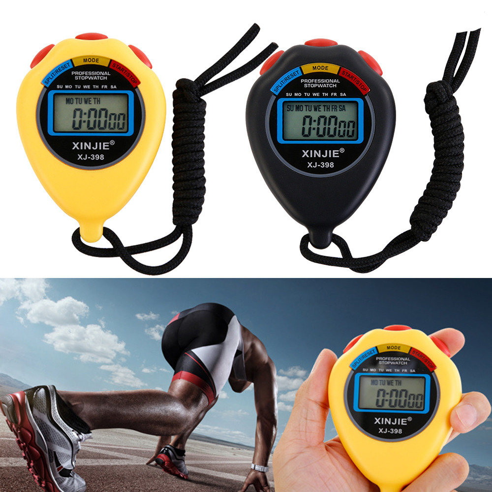Digital Professional Stopwatch Stop Watch LCD Chronograph Timer Waterproof Convenient Counter Sports Accessories 1.753