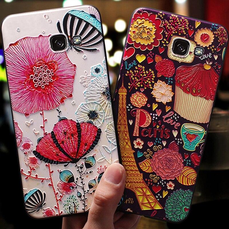 YonLinTan luxury coque,cover,case For Samsung Galaxy a7 2016 a710 Back etui 3D cute mobile phone 360 Original cases accessories