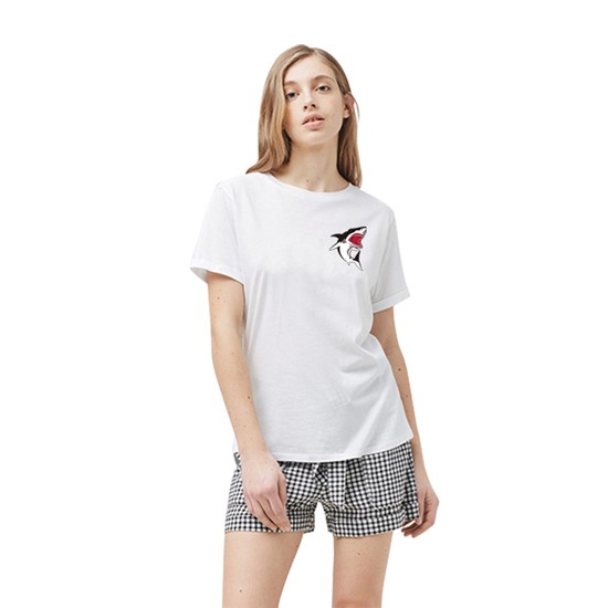 """Hot Shark"" Shark Top / T-Shirt for Girls 3"