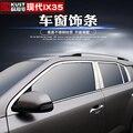 Высококачественные полосы из нержавеющей стали для украшения окна автомобиля аксессуары для стайлинга автомобиля для Hyundai IX35 2018 2019 автомоб...