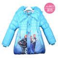 2016 Winter Girls Jacket Parkas Snow Queen Cotton-padded Girls Jacket For 3 4 5 6 7 8Year Long Girls Winter Outerwear Coat