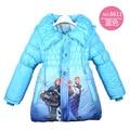 2016 Winter Girls Jacket Parkas Snow Queen Cotton-padded Girls Jacket For 3 4 5 6 7 8Year Long Girls Winter Outerwear Coat