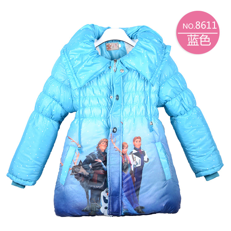 Aliexpress.com : Buy 2017 Winter Girls Jacket Parkas Snow Queen ...