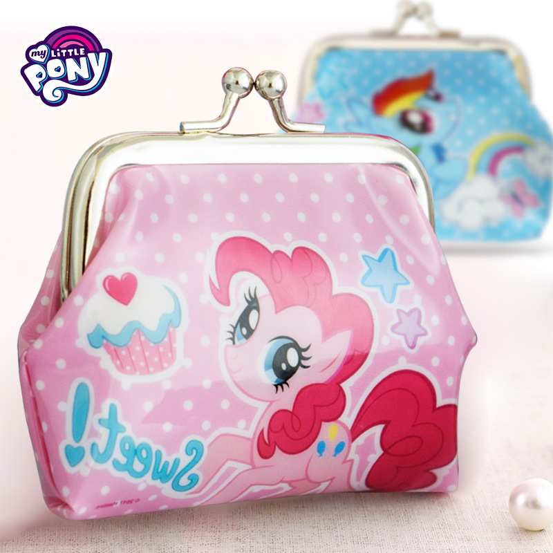 My Little Pony Kids Wallet Girls Toddlers Coin Zip Pocket Photo Holder