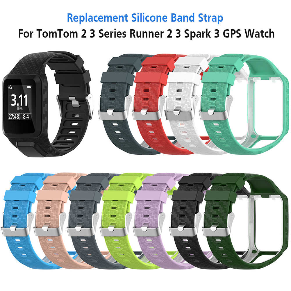 Replacement Fitness Bracelet Wristband Classic Strap Sport Watch Band for TomTom Runner 2 / 3 Spark/3 GPS Active Smart Watch