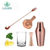 Stainless Steel Cocktail Shaker Suit 5 Sets Bar Wine