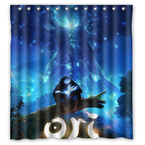 Ori And The Blind Forest Customize Unique Bath Waterproof Shower Curtain Bathroom Products Curtains 48x72