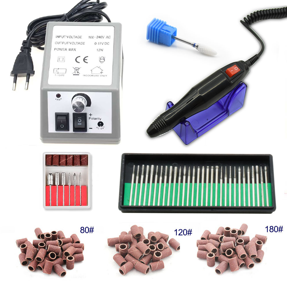 20000RPM 300pcs of sand ring electric nail drill manicure set nail art master pedicure drill repair manicure tool set nail drill in Electric Manicure Drills from Beauty Health