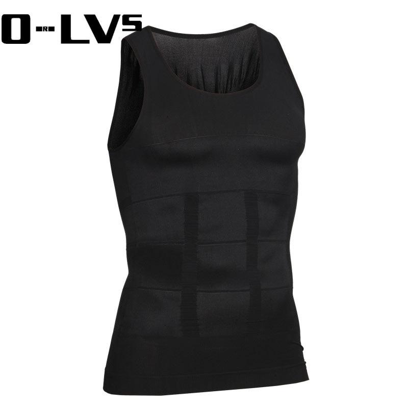 Hot CMENIN Men Corset Body Slimming Tummy Shaper Vest Belly Waist Girdle Shirt Black Shapewear Underwear Waist Girdle Shirts S01
