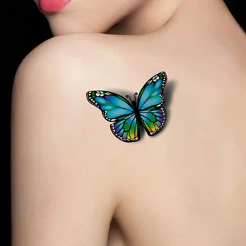 3D Tattoo Sticker On the Body Art Chest Shoulder Stickers Glitter Temporary Tattoos Removal Fake Style Transfer Tattoo Temporary Tattoos