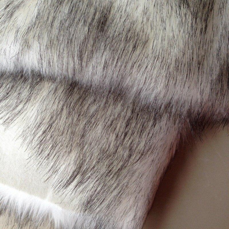 30 ярдов/партия, черный с белым искусственным мехом/искусственный мех/искусственный Лисий мех/кожа, трава, шерсть, ткань/для одежды, шапки