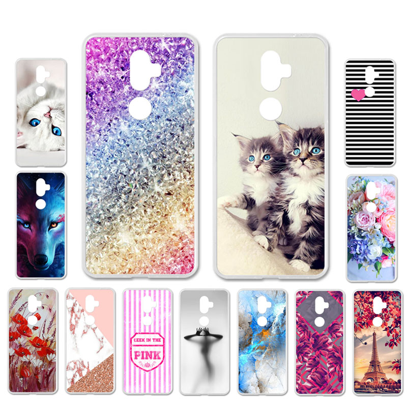 Ojeleye DIY Patterned Silicon Case For Alcatel 3v Case Soft TPU Cartoon Phone Cover For Alcatel 3x Covers Bags Anti-knock Shell