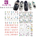 LARGE 12SHEET/LOT CZ11-22 Water decal Nail Sticker Bow&perfume bottles&letters design sticker For nail accessorie