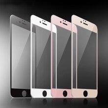 Proteggi schermo in vetro temperato 9H nero bianco oro rosa 9H per iPhone 6 6s 7 8 Plus SE 2020 X XR XS 11 12 mini Pro Max