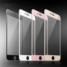 Zwart Wit Rose Goud 9H Volledige Cover Gehard Glas Screen Protector Voor Iphone 6 6S 7 8 Plus se 2020 X Xr Xs 11 12 Mini Pro Max