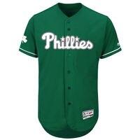 MLB Men's Philadelphia Phillies Baseball Green Fashion Celtic Flex Base Authentic Collection Jersey