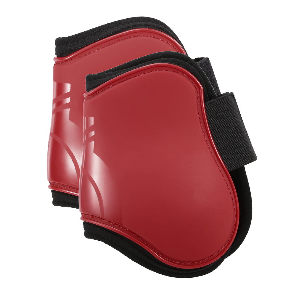 Image 2 - 2 PCS Horse Hind Boots Equine Leg Guard Horse Tendon Shin Protection Neoprene Horse Hock Brace-in Horse Care Products from Sports & Entertainment