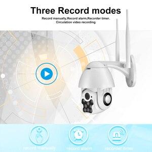 Image 4 - كاميرا بيضاء تعمل بالأشعة تحت الحمراء تعمل بالواي فاي كاميرا IP للأماكن الخارجية/الإمالة بسرعة 1080p كاميرا مراقبة CCTV مزودة بخاصية التكبير الرقمي ثنائي الاتجاه 4X