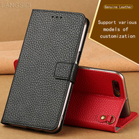 PU Luxury Leather flip Case For Samsung Note 5 Litchi texture magnetic buckle Lanyard design multi function phone cover