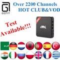 H96 IPTV IPTV Caixa de TV Android com o Poder do REINO UNIDO 2200 + Irã índia Paquistão Itália Coreia Tailândia Argélia Tunísia Brasil Latino XXX tv por assinatura
