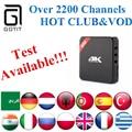 REINO UNIDO H96 IPTV Android TV IPTV Caja con cable de Alimentación 2200 + Irán la india Pakistán Italia Corea Tailandia Túnez Argelia Brasil Latino XXX tv de pago