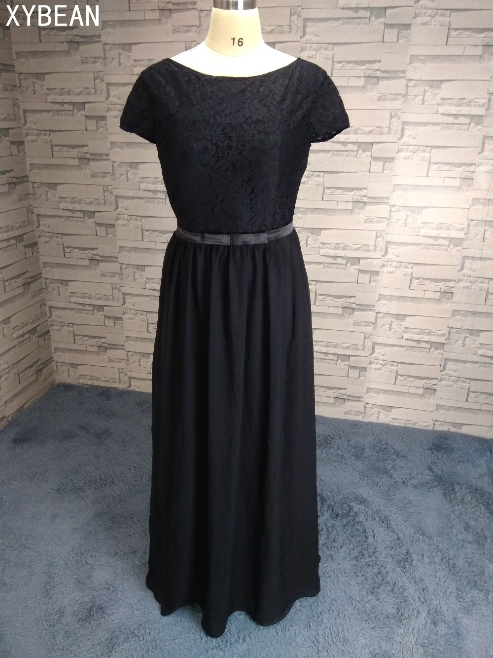 New Free Shipping ! Cheap Price ! Sexy Chiffon Scoop Long Evening Dresses