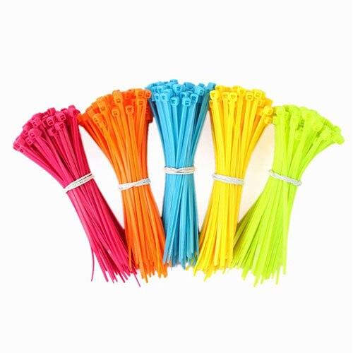 100 Unids Práctico Plástico Autobloqueante de Nylon cable de Cable de Alambre Zip Ties Correa