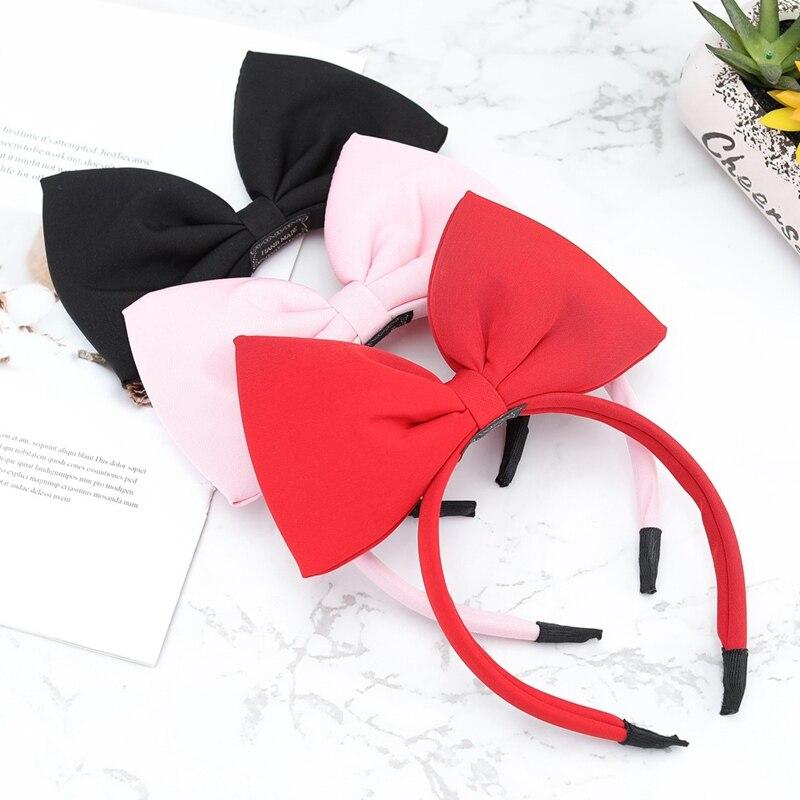 2019 Cute Hairbands Hair Bow Flower Headband Gold Ribbon Hair Band Big Bowknot Headbands Girl Head Hoop Girls Hair Accessories