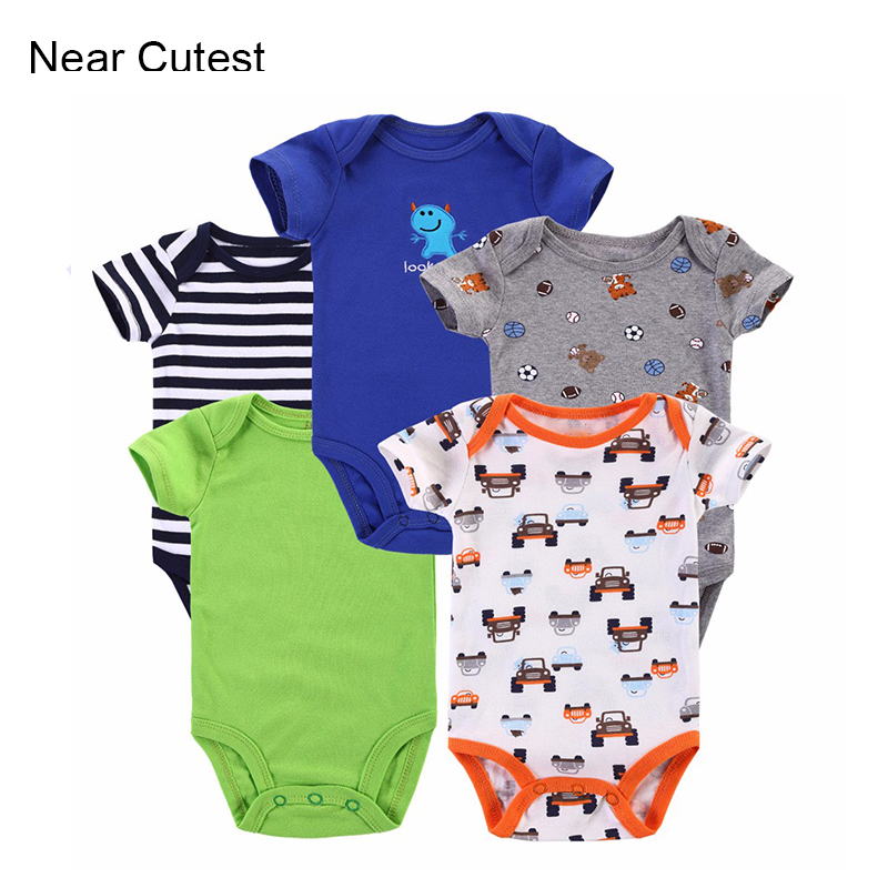 5pcs/lot Newborn Baby Romper Body Similar Next Cute Baby Boy Girl Clothing 100% Cotton Short Sleeve Bebe Clothes