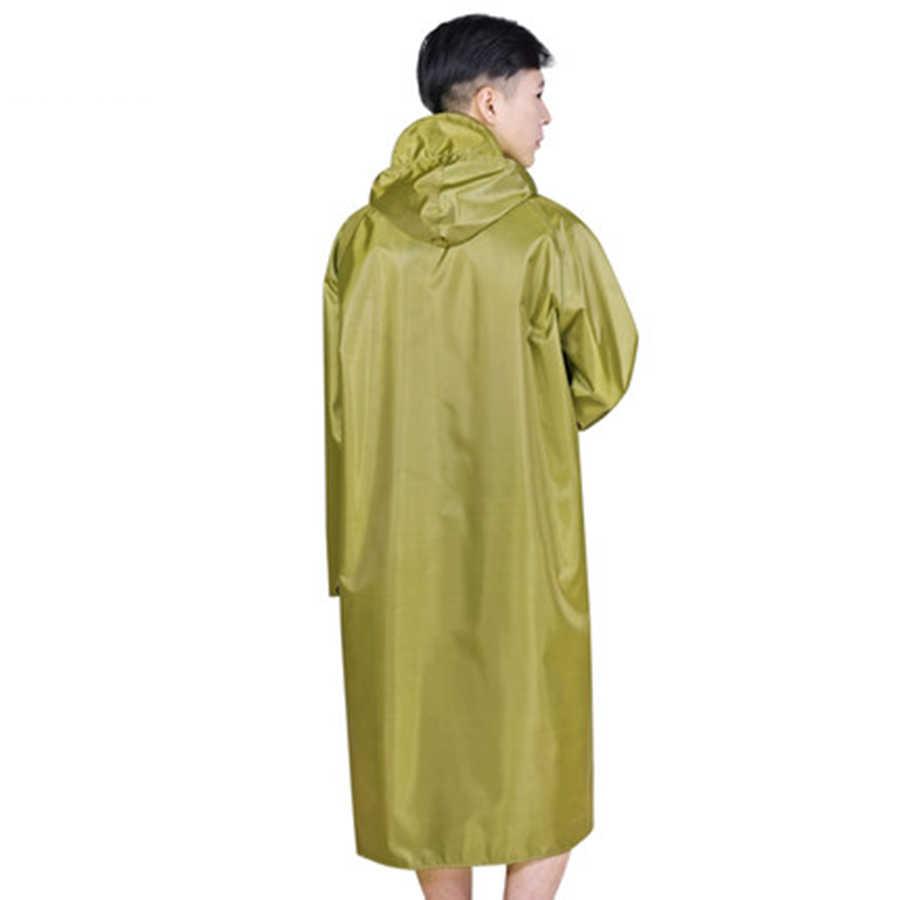 Chubasquero largo para mujer Poncho de talla grande impermeable al aire libre para hombre impermeable para lluvia abrigo para hombre para mujer con monos con capucha 50